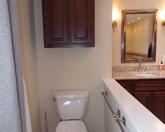 toilet  cabinet  towel bars