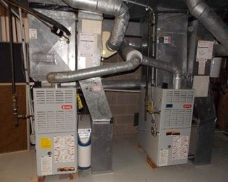 2 furnaces  gas forced air