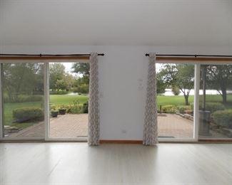 Window Treatments  patio doors  paver patio