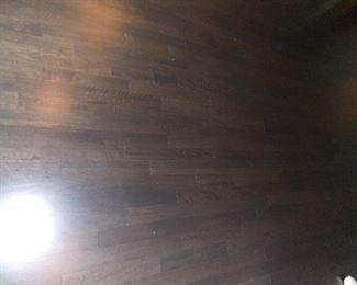 Reclaimed oak wide plank floors