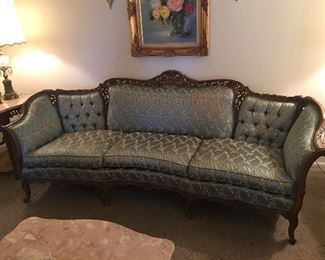 Jackson-Allen Upholstery Corp.   Sofa and Chair Set. Pristine condition.