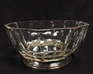 003SH Silver Plated Italian Footed Glass Bowl