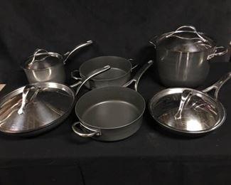 006SH Set of Anolon Copper Enhanced Cookware