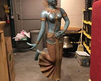 012SH Indonesian Metalwork Statue Prithvi