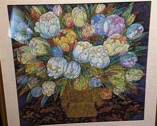 018SH Jiao Ying Apogee of Tulips watercolor
