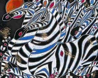 019SH- Jiang Tiefeng 'Imperial Zebra' Serigraph 190/300.jpg