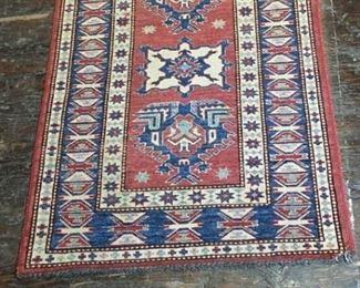 075h Kazak Wool Rug Pakistan
