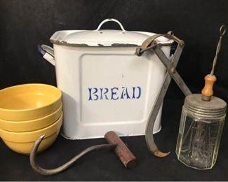 304g Antique Kitchen Items  More