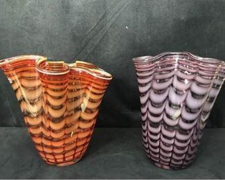 305g Pair Royal Gallery Art Glass Vases