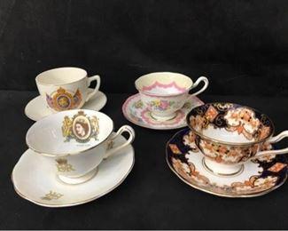 312g Prince Albert Bone China Teacups