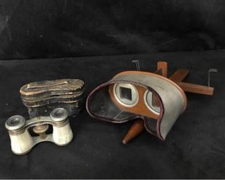 314g Stereograph and Opera Glasses