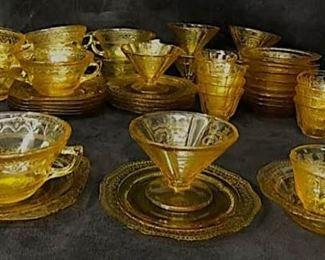 Amber glass vintage