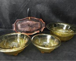 318g Ribbed Mixing Bowls  Small Tray