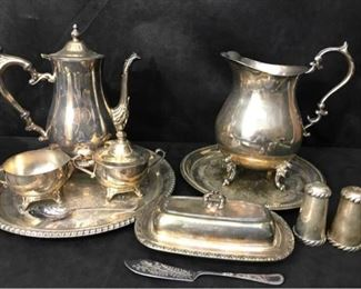 Silverplate coffee service