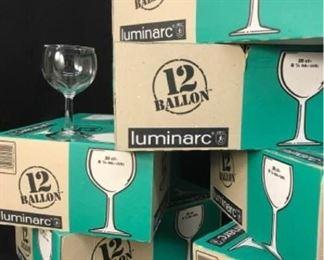 331gLuminarc Glass Wine Glasses