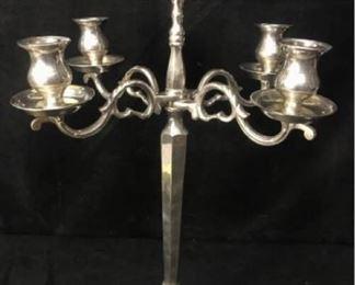 332gSilverplate Centerpiece Candlelabra
