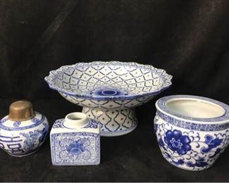 338gChinese Decorative Blue  White
