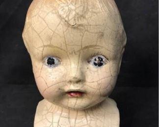 339gAntique Doll Head