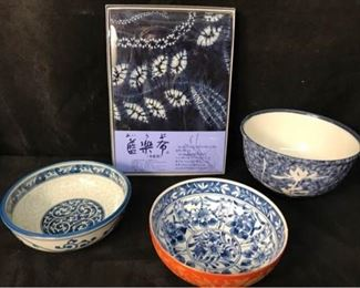 342gJapanese Bowls  38Table Cloth