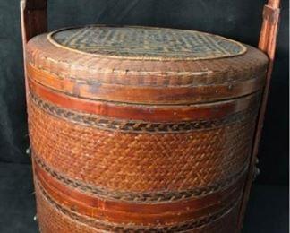 355gAntique Chinese Wedding Basket