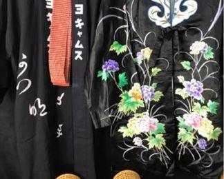 361g Japanese Kimonos  Bamboo Pillows