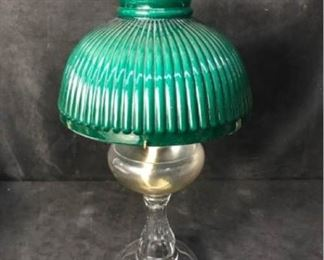 369g PA Mfg. Co. Glass Oil Lamp