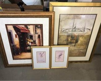 378g Variety of Framed Decorative Prints