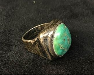 393gSilver Tourqouise Ring