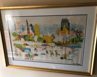 DONG KINGMAN SIGNED WATERCOLOR - CENTRAL PARK