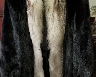 Mink and Fox Jacket  Large