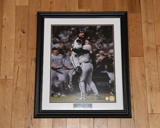 Bobby Jenks and A.J. Pierzynsky double signed World Series celebration 16x20 photo with authenticity.