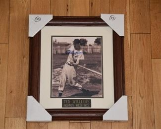 Ted Williams signed vintage 8x10 photo with authenticity.