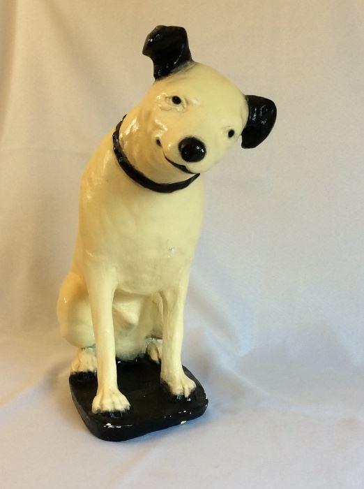 "Ceramic RCA Dog, 14"" H."