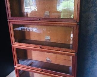 4 section barrister bookcase