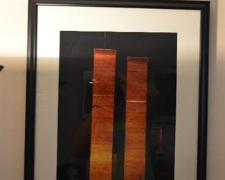 singed picture by Santi Visalli of the twin towers