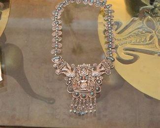 antique mexican silver necklaces