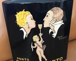 Rene Vincent Poster Vase - Porto Ramos-Pinto
