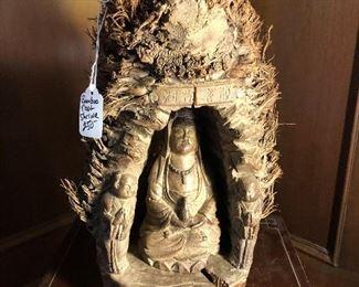 Bamboo root shrine