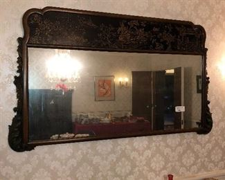 Large chinoisere mirror