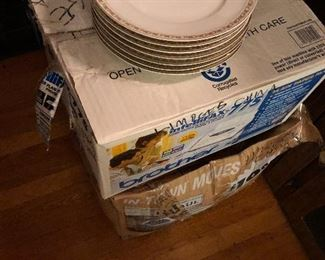 2 very large boxes of Limoges China just brought down from attic