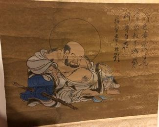 Chinese scroll painting just found in house and put out  new!