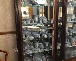Glass and Mahogany Classical Display Cabinets (3) total