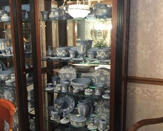 Two Cabinets are full of Blue Jasperware - Wedgwood