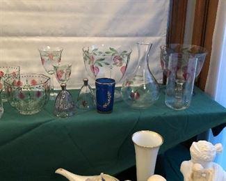 Orrefors Painted Glassware