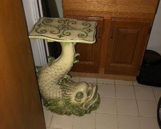 Ceramic Carp Side Table