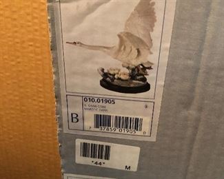 box for the Majestic Swan