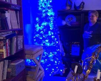 Flock Tree in its blue light