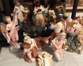 Italian Painted Nativity