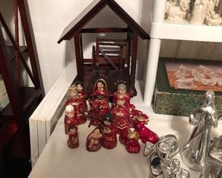 Mexican Painted Nativity