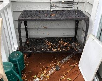 Metal GardenTiered Table